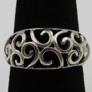 Vintage Size 6.25 Sterling Ornate Style Ring